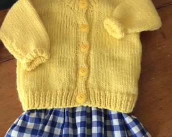 Vintage CRAYON YELLOW  Sweater for Toddler