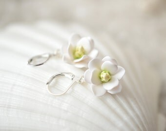 Southern Magnolia Earrings, Flower Earrings,  Summer Jewelry , Southern Wedding Jewelry