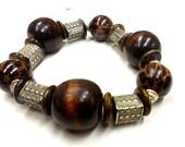 Brown LEOPARD PRINT stackable bracelet
