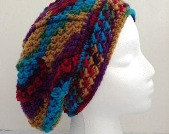 Crochet Slouchy Hat Multicolor