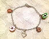 Cookie-Donut Charm Bracelet