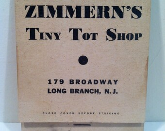 Vintage Giant Feature Matchbooks - Zimmern's Tiny Toy Shop.