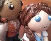 Rumbelle Wedding Cake Topper