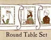 "Round Table Nursery Art - ""The Legends of King Arthur"" Set of 3"