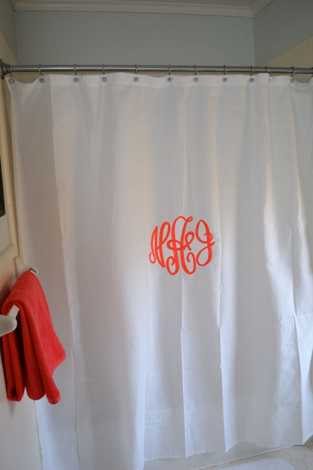 Custom Monogrammed Shower Curtain