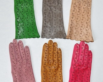 Women's leather gloves (9285-color). Different Sizes.