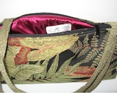 handmade purse created with upholstery fabric sample, one of a kind