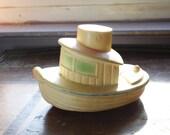 Vintage Tug Boat Bath Toy