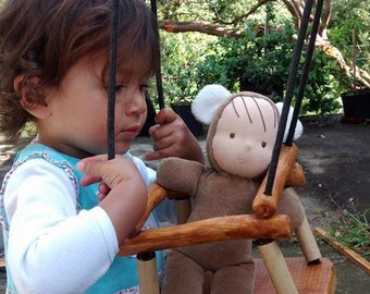 Wooden Doll Swing / Waldorf inspired / Waldorf wooden toy / Wiwiurka