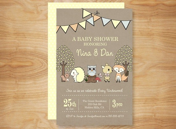 gender neutral enchanted forest baby shower by adornedheart