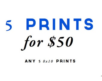5 for 50 - DISCOUNT Print and Mail Set - YOU CHOOSE the prints