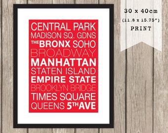 30 x 40cm NEW YORK Streets print