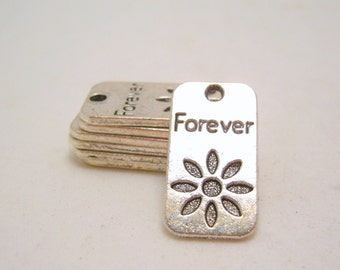 word charms - forever - 12mm x 23mm - 3 charms