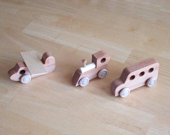 Wood Plane , Train, and Bus