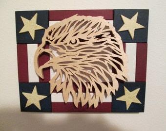 Folk Art Flag & Eagle