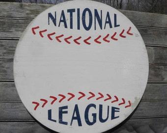 Custom-Personalized Baseball Sign,  wooden wall hanging C SB NL2