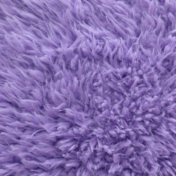 Items similar to faux fake fur sherminky soft goat hair for Light purple carpet