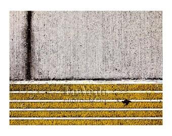 Sidewalk Zen Photo, Abstract Photography, Concrete, Asphalt, Modern Art, Contemporary Art, Home Office Decor