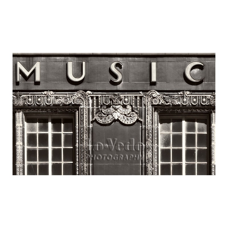 Music shop photo art deco music store kansas city black and for Craft stores in kansas city