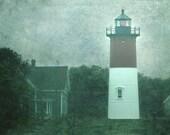 Nauset Light in the Fog, 5x7 photo