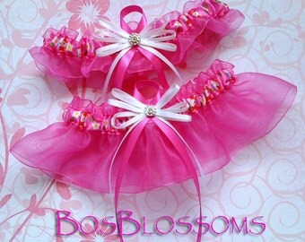 HELLO KITTY handmade wedding prom Quinceañera garter set - size xs s m l xl