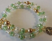 August/Peridot Birthstone Rosary Bracelet