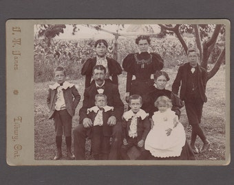 Outdoor Cabinet Card of a Family of Nine