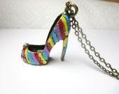 super Sale  Shoe  Necklace - High-Heel Shoe - Flip Flop Charms, Gift For Her