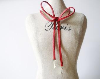 XO choker -Black choker -red  leather chocker -Initial Necklace , Personalized  Choker - A letter -Alphabet Letter necklace- Letter necklace