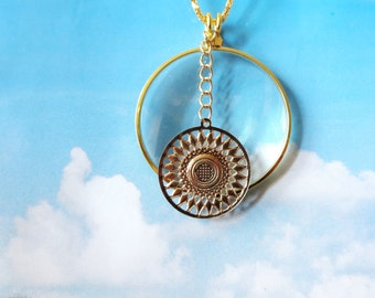 """Bird Magnifying necklace -2"""" magnifying glass  pendant , Fun and Handy-Trendy and Chic Jewelry FREE GIFT With PURCHASE"""