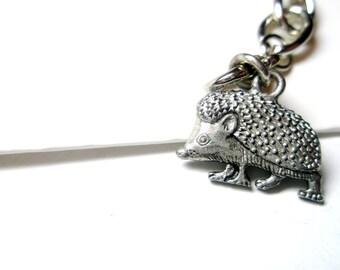 Tiny Hedgehog  Necklace -hedgehog keychain-  Hedgehog Keyring -  Hedgehog jewelry  with  Free  gift