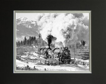 "Southern Pacific ""Oregonian"" troop train, Limited Edition Prints"