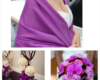 PURPLE MAGENTA PASHMINA. Pashmina Shawl. Wedding favors. Pashmina Scarf. Bridal Shawl. Bridesmaids gifts.