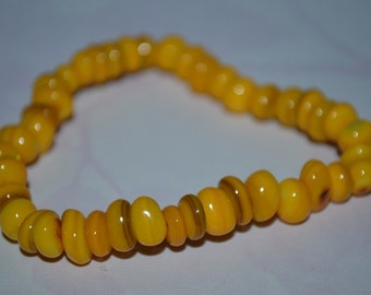 Yellow Mother of Pearl Shell Bracelet