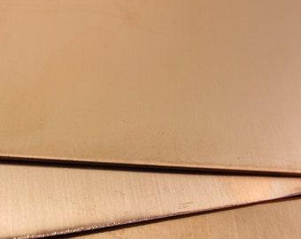 """22g Metal Sheet Copper 22 Gauge 12"""" x 6"""" #394-222126"""