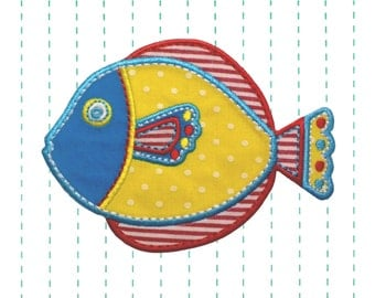 Fish Iron on Applique Patch