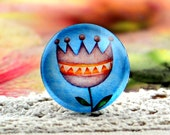 10pcs (10mm\12mm\14mm\15mm) 4pcs (16mm\18m\20mm\25mm) 2pcs (30mm) Handmade Photo Glass Cabs Cabochons--Beautiful Flower