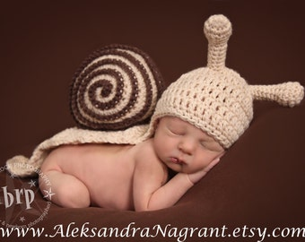 SNAIL BABY COSTUME - acrylic - photo prop - Made To Order