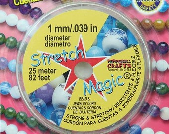 Stretch Magic Clear Beading Cord 1mm 25 meters - eSM25-01
