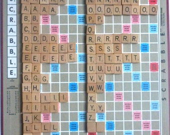 Full Set of Scrabble Tile Magnets, 100 Scrabble Tile Magnets