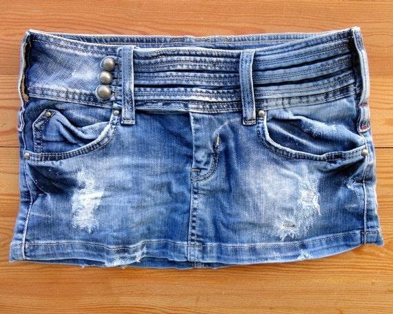 blue jean skirt denim skirt micro mini skirt skirt