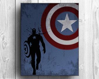 Captain America Inspired Custom Design Poster Print