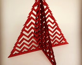 Chevron Tree ~ Laser-cut Wood Ornament