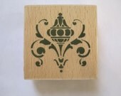 """Whispers  Medallion Geometric Ornament  Rubber Stamp Stencil Size 2.5"""" Length E609s"""