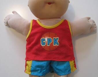 Cabbage Patch Kids Doll Boy 1985 Coleco SS Brown Eyes Bold with Original Clothes  E428Bs