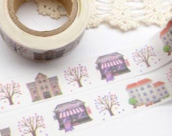 City and Trees Washi Tape - X794