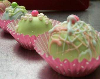 Cake Balls 12 Fun Birthday , Graduation, Wedding favor Full of Color Whimsical decoration