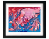11 x 8.5 Abstract Art Print - Signed & Numbered by Starving Artist + FREE shipping