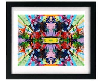 11 x 8.5 Psychedelic Fractal Kaleidoscope Art Signed Giclée Print