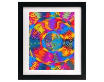 8.5 x 11 Abstract Digital Art Print - Signed & Numbered — Starving Artist Sale